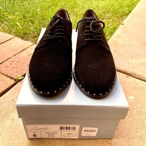 Anthro Black Studded Loafer NWT